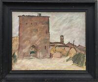Ölgemälde Stadttor in Italien Impressionist Axel Simonsen 1884-1962 52 x 66 cm