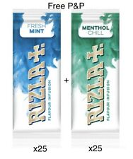 Rizla Infusion Cards 2x25 - 1 Box Of Each Flavour Mint & Menthol Free P&P