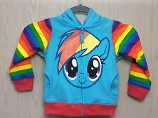 Freeze My Little Pony Rainbow Dash Hoodie Jacket With Wings 3T