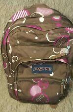 JanSport Big Student Backpack Multi Color PINK/chocolate brown Circles design