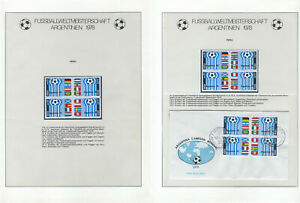 Soccer 1978 D57 Peru 2 Bl of 4v MNH + FDC Football