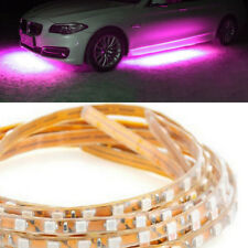 4x Purple Pink LED Strip Car Underglow Underbody Ambient Light Kit 90cm+135cm