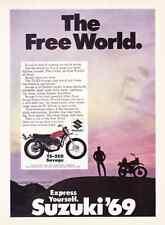 1969 SUZUKI TS-250 SAVAGE 23-HP MOTORCYCLE ~ ORIGINAL PRINT AD