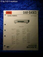 Sony Service Manual DAR DA5ES Tuner (#0404)