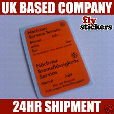 VW MK1 Golf GTI Dealer Service Sticker