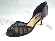 df6376619616b Nina (viani Black Luster Satin Wedge Sandal) Women s Size 6 BRAND