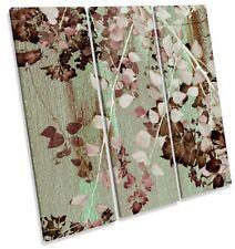 Hojas de Árbol Floral Rosado agudos Lona Pared Arte de Impresión de la obra de arte