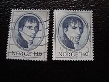 NORVEGE - timbre yvert et tellier n° 623 x2 obl (A30) stamp norway