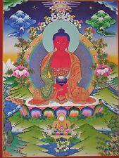 Tibetan Thangka Poster for Dharma Practice AMITABHA BUDDHA