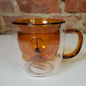 Double Wall Glass Bear Mug Cute Mug Tea Coffee Cup Milk Funny Gifts