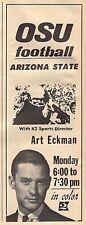 1966 KATU PORTLAND TV AD~ART ECKMAN SPORTS DIRECTOR~OREGON STATE BEAVER FOOTBALL
