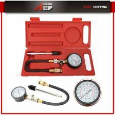 Motorcycle Engine Cylinder Compressor Tester Pressure Gauge Tool Kit Universal