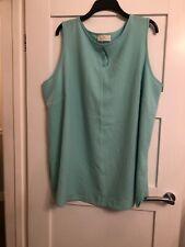 Ann Harvey Ladies Mint Green Sleeveless Blouse Size 26