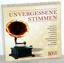 10 CD-Box  UNVERGESSENE STIMMEN - Erna Berger/Martha Eggerth/Greta Keller u.a.