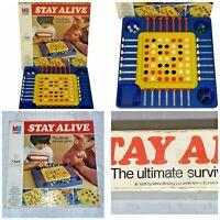 Stay Alive Board Game MB Games 100% Complete Original Marbles Vintage 1976 VGC