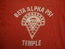 vintage 70's 80's Beta Alphi Psi Temple University College Fraternity T Shirt M
