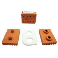 1/3/4pcs Novelty Sandwich Cute Cookies Biscuit Pencil Eraser For Students Gift