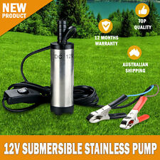 NEW 12V 30L Min Stainless Diesel Submersible Oil Water Pressure Pump