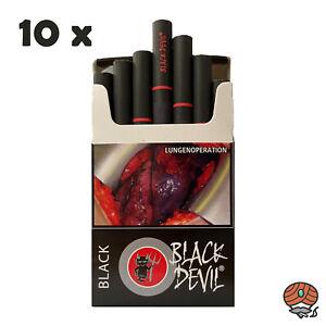 1 Stange BLACK DEVIL BLACK Zigaretten, 10x 20 Stück, DIE SCHWARZE ZIGARETTE!