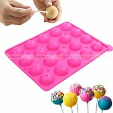 Silicone Lollipop Mold Party Cake Chocolate Cookie Mould Baking Tray Stick