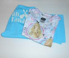 Disney Hannah Montana Two (2) Piece Short Sleeve Pajama Set Blue M/7-8 NWT