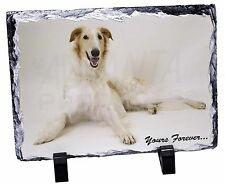 Borzoi Dog 'Yours Forever' Photo Slate Christmas Gift Ornament, AD-BZ2SL