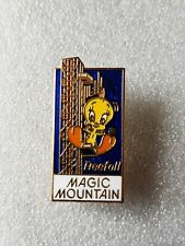 More details for rare vintage tweety bird magic mountain freefall roller coaster enamel pin badge