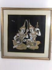 Antique Thai Batik Painting 1930's - Hand-painted On Silk