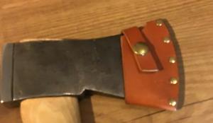 axe hatchet Blade chopper bag scabbard sheath case cow leather protector sleeve