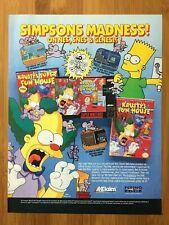 The Simpsons: Krusty's Fun House NES 1992 Vintage Print Ad/Poster Nintendo Rare!