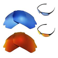 93ae61ba87 Walleva Fire Red + Ice Blue Polarized Lenses For Smith Parallel Max  Sunglasses