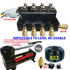 Accu Air VU4 Solenoid  Valve Manifold Air Ride DC480 Compressor airhose kit