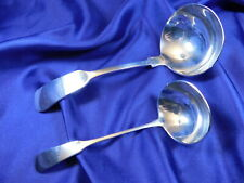 GORHAM OLD ENGLISH TIPT STERLING SILVER CREAM LADLE & GRAVY LADLE - VERY GOOD