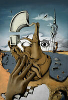 Salvador Dali loi canvas print giclee 8X12 & 12X17 reproduction art poster
