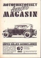 Motorhistoriskt Magasin Annons Swedish Car Magazine 6-7 1985 Ford 032717nonDBE