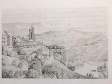 Berne, Caruelle d'Aligny, Gravure XIXe, Suisse, Switzerland, Engraving Radierung