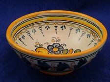 Italian Glazed Bowl Yellow Blue Green etc