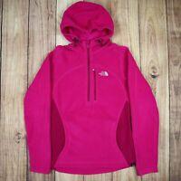 Womens The North Face Quarter Zip Fleece Jumper Pink Size XS