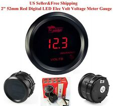 "US 2"" 52mm Red Digital LED Elec Volt Voltage Meter Gauge Boat Car AUTO 0~15V"