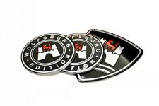 3Pcs Aluminium Wolfsburg germany Badge Emblem Kit FIT MK7 6 GOLF GTI JETTA POLO