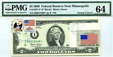 $2 DOLLARS 2003 STAR NOTE FLAG OF UN FROM USA LUCKY MONEY VALUE $3000