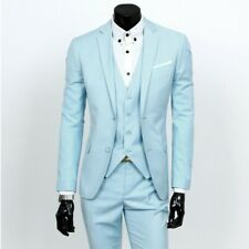 Mens 3-Piece Suits Luxury Business Jackets Vest Pants Wedding Formal Casual New