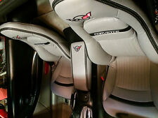 1997-2004 C5 Corvette Genuine Light Grey Leather Seat Covers for Sport Seats