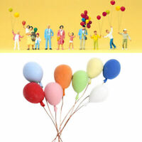 8PCS/Set 1:12 Dollhouse Miniature Balloon Birthday Hot Party US DecorationH P6R1