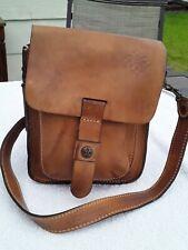 Patricia Nash Lari Genuine Leather Brown(Tan) Saddle Bag Crossbody Purse