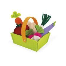 Janod Tissu Légumes Basket With 8 Légumes 2yrs+