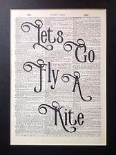 Mary Poppins vamos a ir volar una cometa.. Idea de Regalo A4 Talla Antiguo Arte Diccionario página