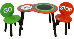 Children Racing Car Table & Chairs for Kids Stop Go kids boys study play desk
