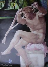 MICHEL-ANGE A LA SIXTINE CATHÉDRALE D'IMAGES LES BAUX 1996-AFFICHE/POSTER/PLAKAT