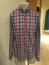 Casa Moda Men's Shirt Size M 39/40 Blue Navy Red Check RRP £57.95 Now £26